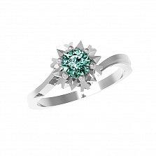 Серебряное кольцо Наоми с зеленым кварцем