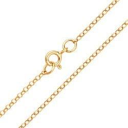 Позолоченная серебряная цепочка в плетении бельцер, 1,5 мм 000118976