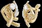 Позолоченные серебряные серьги с фианитами Индонезия SLX--С3Ф/082