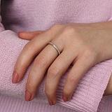 Золотое кольцо Соренте в белом цвете с бриллиантами