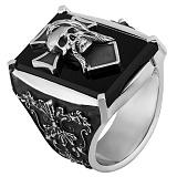 Серебряный перстень Козак с агатом