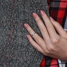 Серебряное фаланговое кольцо Бесконечность