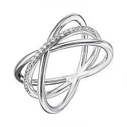Серебряное кольцо с фианитами 000133956