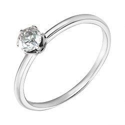 Помолвочное кольцо в белом золоте с бриллиантом 0,27ct 000070604