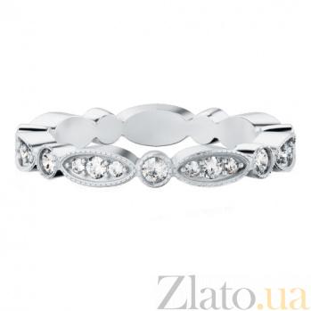 Обручальное кольцо из белого золота с бриллиантами Так задумано свыше 263