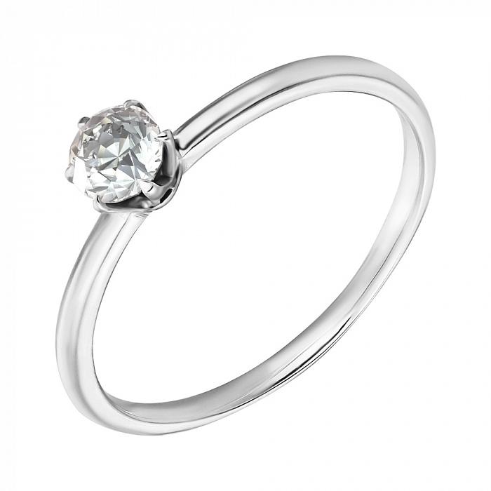 Помолвочное кольцо в белом золоте с бриллиантом 0,25ct 000070604 000070604