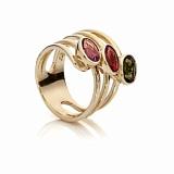 Золотое кольцо с турмалинами Маргарет