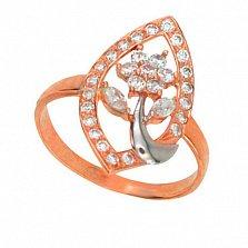 Золотое кольцо Виктория с фианитами