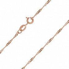 Серебряная цепь Фламенко с позолотой, 1 мм, 45 см