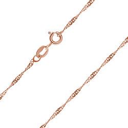Серебряная цепь Фламенко с позолотой, 1 мм