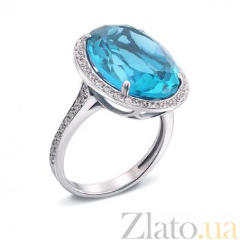 Серебряное кольцо Лили с голубым кварцем 1684/9р гол.кварц