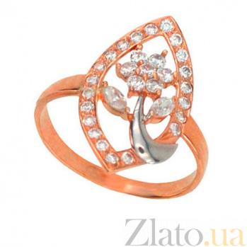 Золотое кольцо Виктория с фианитами VLT--Е1228