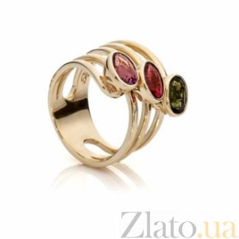 Золотое кольцо с турмалинами Маргарет 000030646