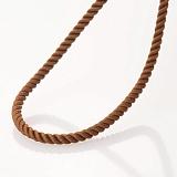 Шелковый коричневый шнурок Сильверс с гладкой золотой застежкой, 2мм