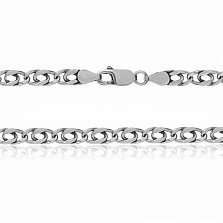 Серебряная цепь Александрия с родием, 5 мм