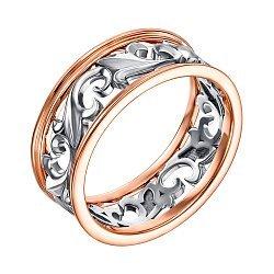 Обручальное кольцо в комбинированном цвете золота 000133552