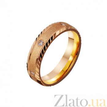Золотое обручальное кольцо Песня любви с фианитами TRF--4121224