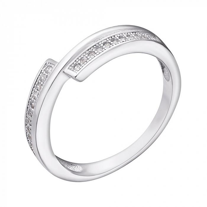 Серебряное кольцо Амарис с фианитами 000030926