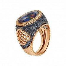 Кольцо в красном золоте Флавия с опалом и фианитами