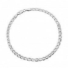Серебряный браслет Киан с родированием, 3,5 мм