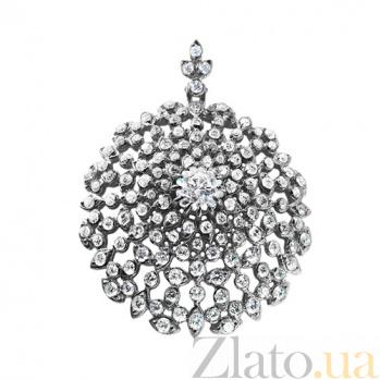 Подвес из белого золота с бриллиантами Флорентина P0639