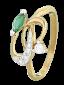 Серебряное кольцо с цирконием Инджи 000025559