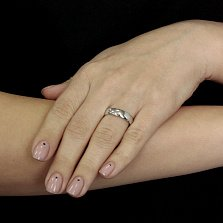 Обручальное кольцо классическое Элегия