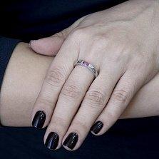 Серебряное кольцо Салли с рубином и бриллиантами