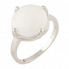 Серебряное кольцо Мишель с белым агатом