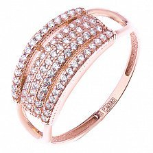 Золотое кольцо Буэнта с фианитами