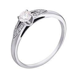 Помолвочное кольцо в белом золоте с бриллиантами, 0,31ct 000070635