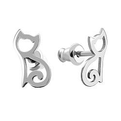 Серебряные серьги-пуссеты 000067309