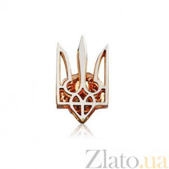 Золотая булавка Тризуб EDM--БЛ015