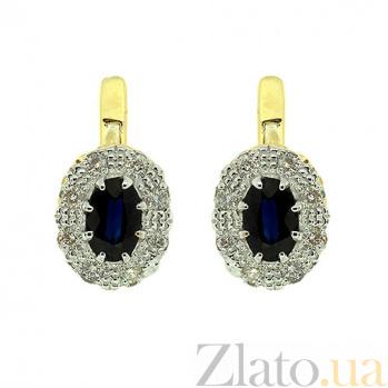 Серьги из желтого золота с сапфирами и бриллиантами Габриэлла ZMX--ES-5503y_K