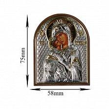 Икона Владимирская Божья Матерь, 58х75мм