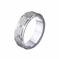 Золотое обручальное кольцо Совершенство любви с фианитами