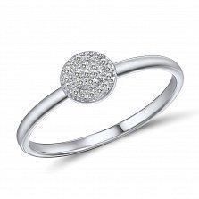Кольцо Бриджит из белого золота с бриллиантами