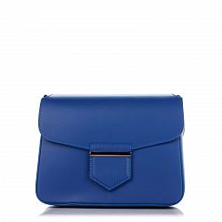 Кожаный клатч Genuine Leather 8689 темно-синего цвета с магнитом на клапане 000092288