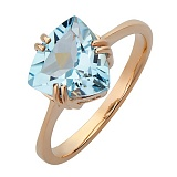 Золотое кольцо Верена с голубым топазом