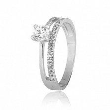 Серебряное кольцо Дина с фианитами