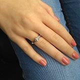 Золотое кольцо из белого золота Сердце