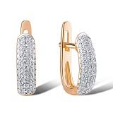 Серьги из красного золота Светлана с бриллиантами