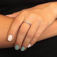 Серебряное кольцо с бриллиантами Эйша