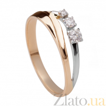 Золотое кольцо с бриллиантами Тринити 000030508