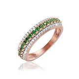 Серебряное кольцо Самовыражение с позолотой и фианитами