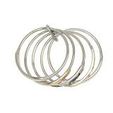 Серебряное кольцо - разборное с золотыми вставками Аризона