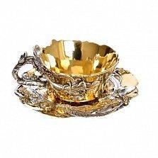 Серебряная позолоченная чашка Виноградная лоза