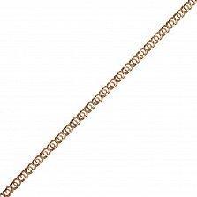 Золотая цепь Алигьери в плетении арабский бисмарк