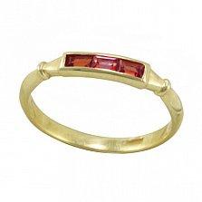 Золотое кольцо Адриана в желтом цвете с морганитом