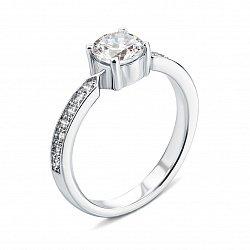 Серебряное кольцо с фианитами 000133667